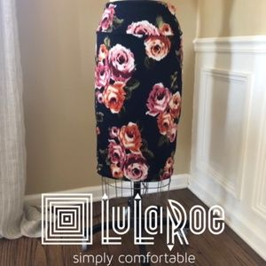 LuLaRoe Cassie Floral Pencil Skirt-M